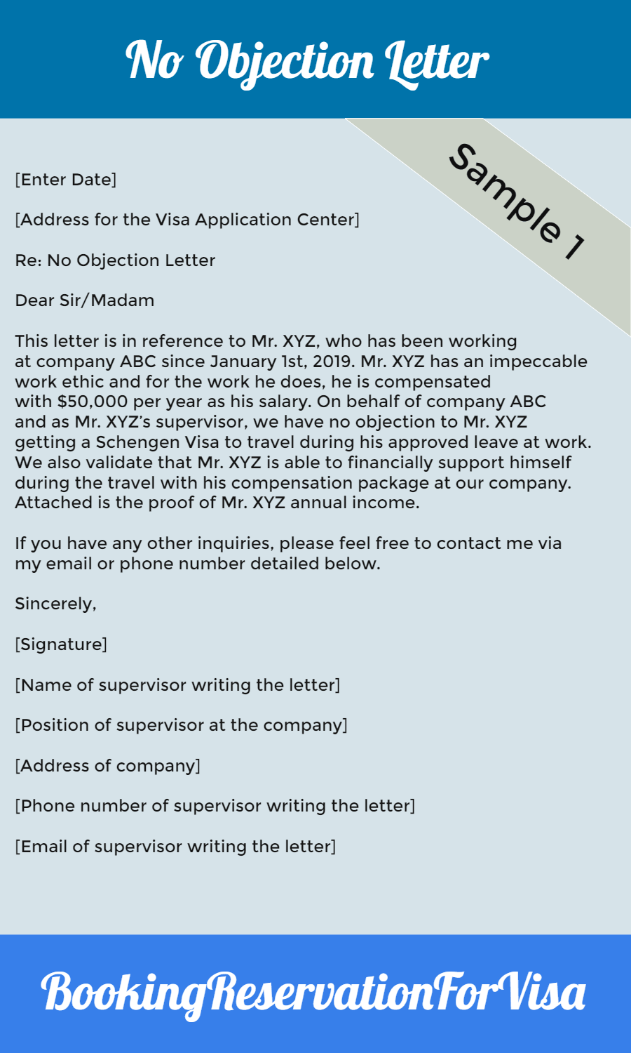 No-Objection-Letter-Employer-Sample
