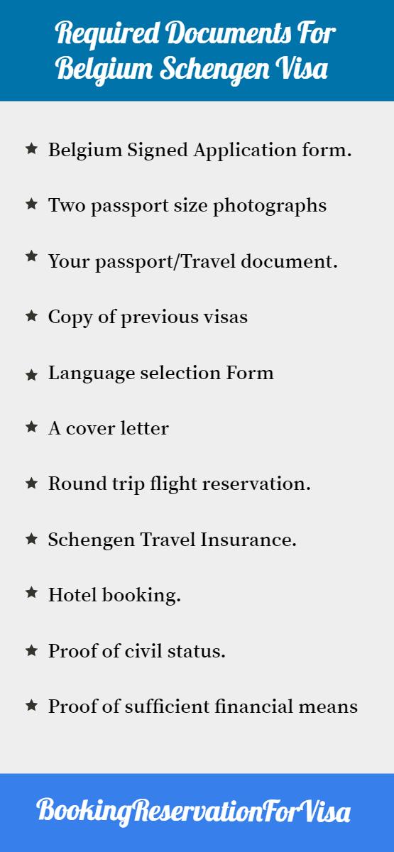 required-documents-for-belgium-schengen-visa