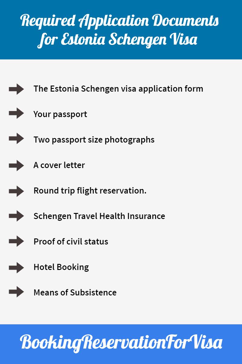 Estonia-Schengen-visa-required-application-documents