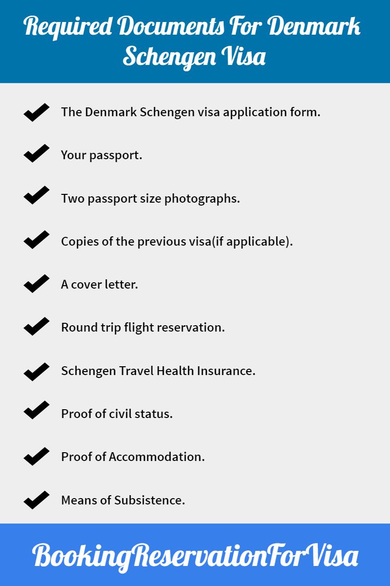 required-documents for-denmark-schengen-visa