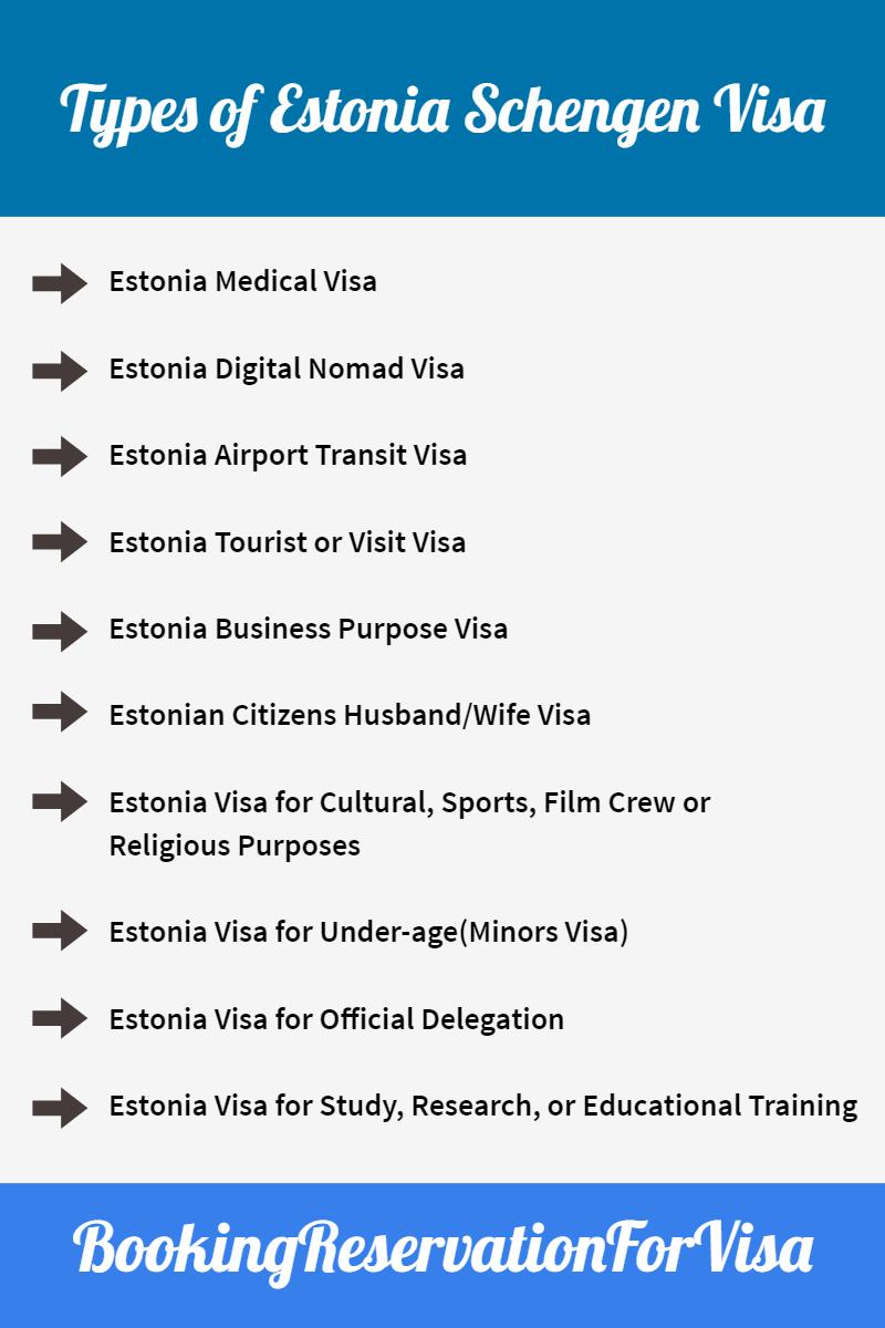 types-of-Estonia-schengen-visa-application