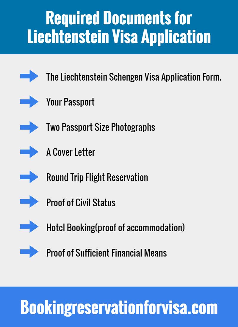 required-documents-for-Liechtenstein-visa-application