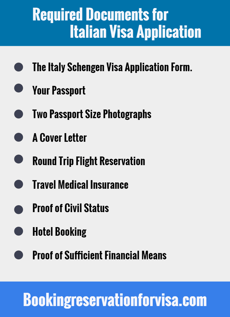 required-documents-for-italy-visa-application