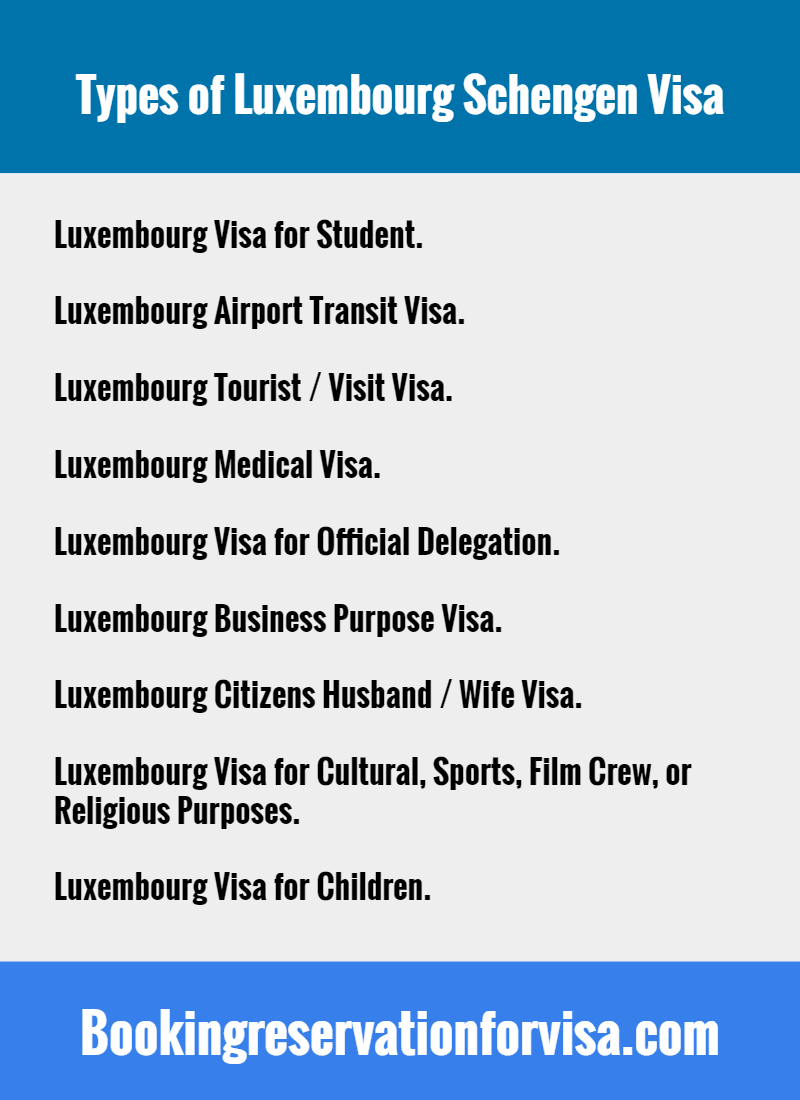 types-of-Luxembourg-visa