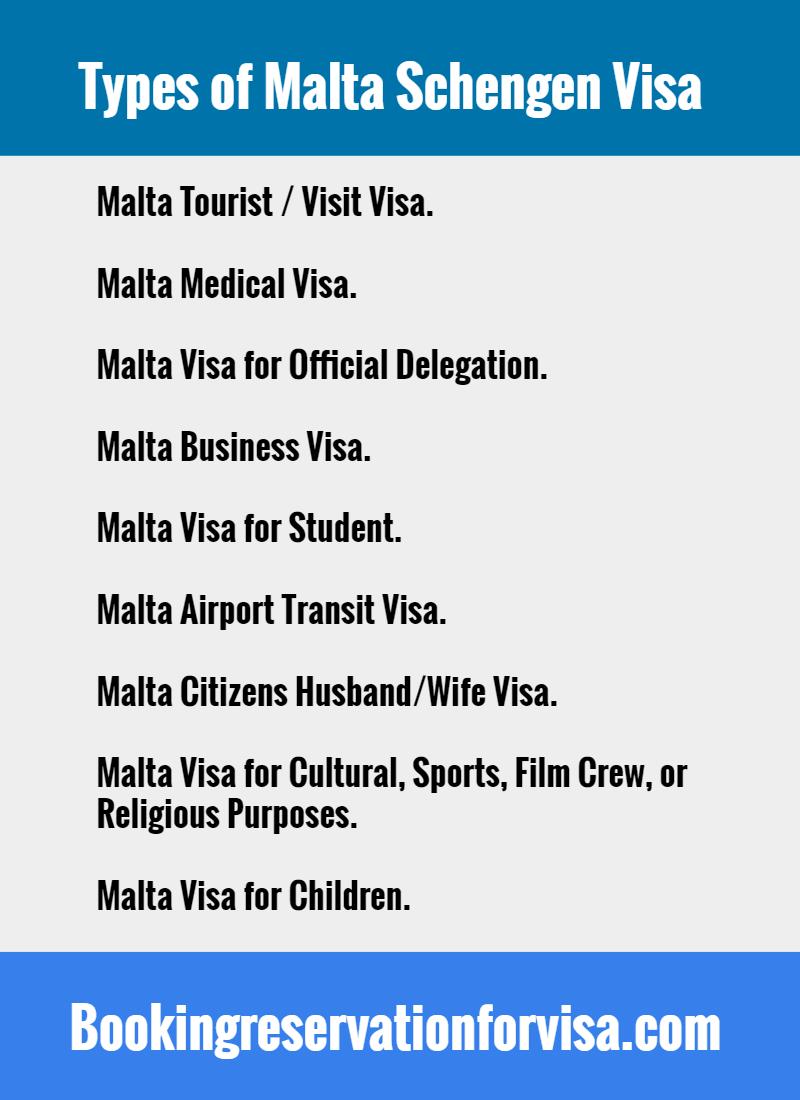 malta-schengen-visa-types