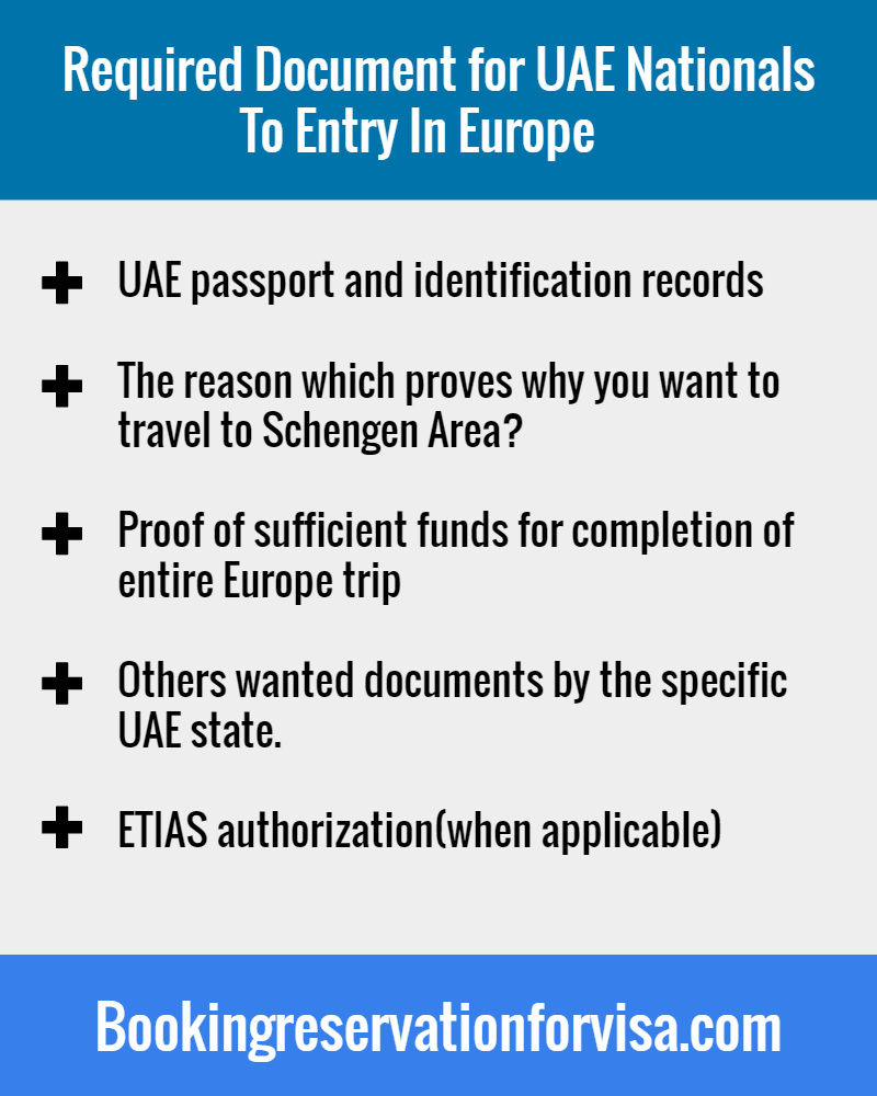 Required-Documents-for-UAE-Nationals-to-Entry-in-Europe