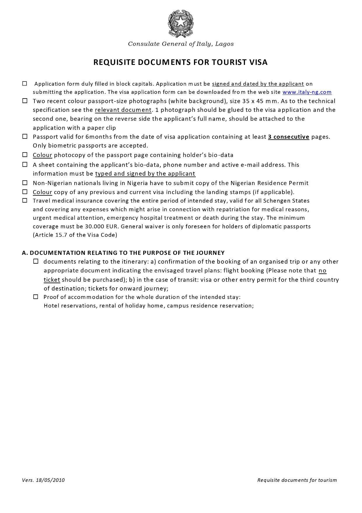 Consulate-general-of-italy-requisite-documents-for-Schengen-visa